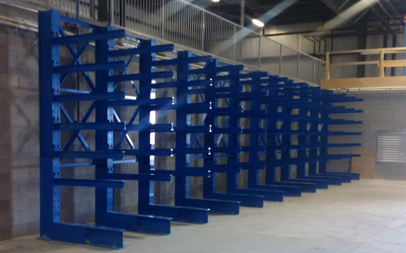 Newly installed Cantilever Racking