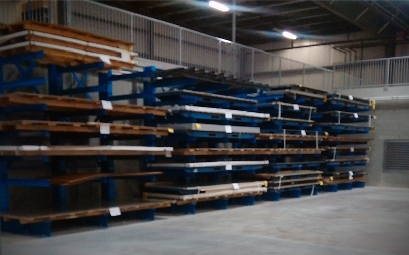 Loaded cantilever racking