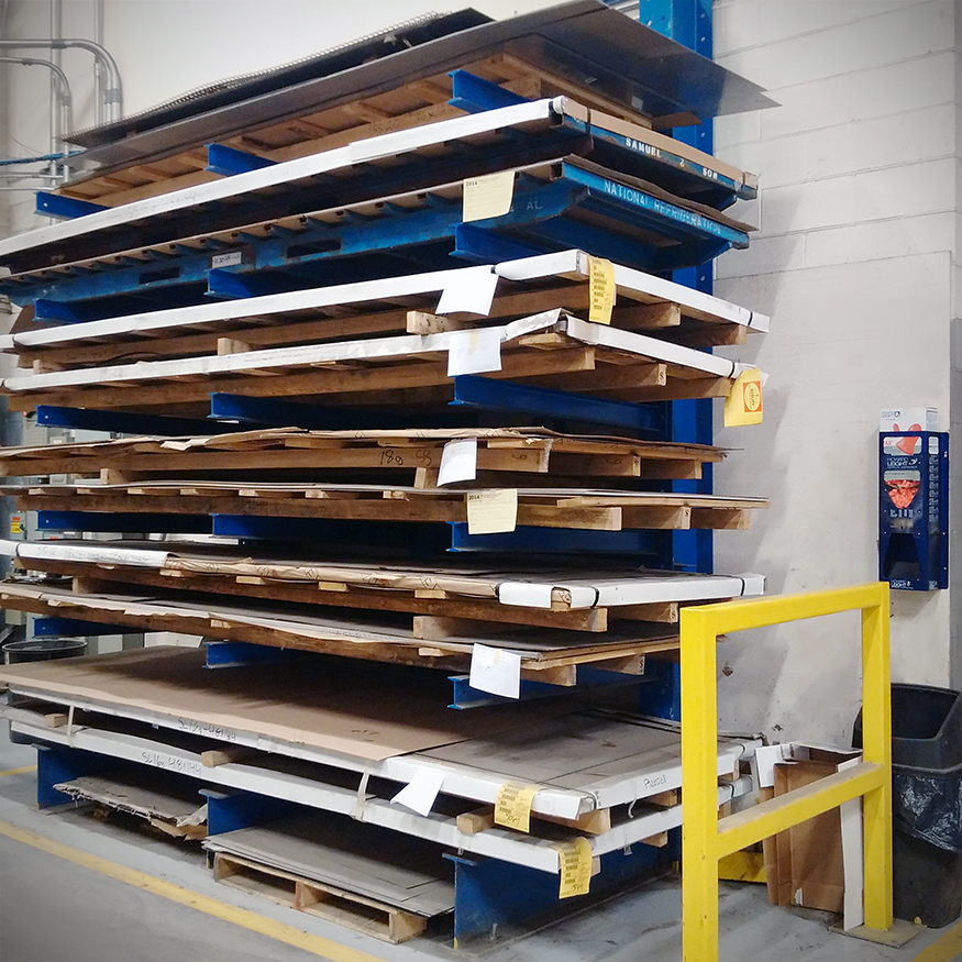 Loaded Cantilevered Racking at a customer facility