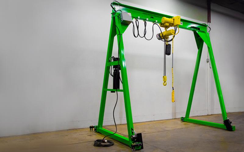 Gantry crane on display - Green