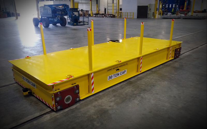 Product transfer cart - yellow