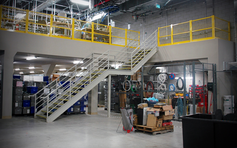 Mezzanine in use - in warehouse