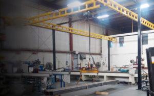 Workstation Crane - Overhead yellow