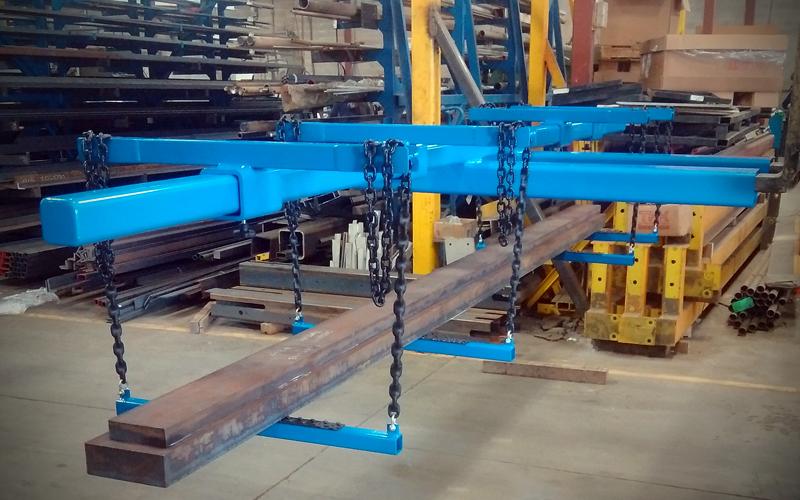 Forklift loading beam - blue