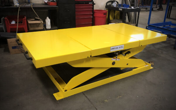 Carney Fabricating Lift Table - Yellow