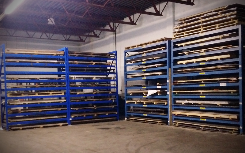 Structural racking - filled - blue