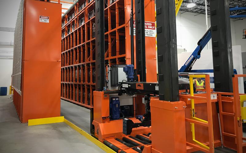 Automated storage and retrieval system - orange